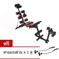 ขาย Six Pack Care Cycle เครื่องบริหารหน้าท้อง เก้าอี้ซิทอัพ ม้าเล่นหน้าท้อง สปริง 6 เส้น พร้อมที่ปั่นจักรยาน Sit Up Bench สีดำ สีส้ม Unbranded Generic ใน สมุทรปราการ