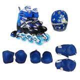ซื้อ รองเท้าโรลเลอร์เบลด Kakala Size L 39 42สีน้ำเงินพร้อมชุดป้องกัน6ชิ้นและหมวก1ใบ Thailand