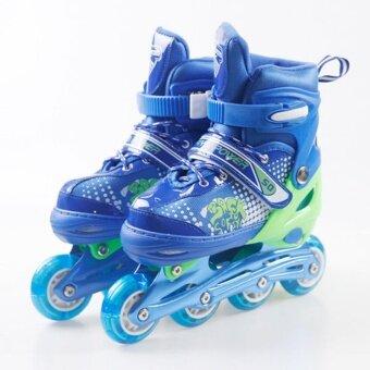 รองเท้าสเก็ต โรลเลอร์เบลด Skate Roller Blade รุ่น 12 สีน้ำเงิน (Size: S)