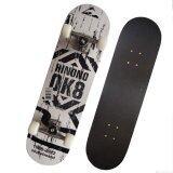 ขาย Skateboard สเก็ตบอร์ด Ok8 สีขาวดำ ใน กรุงเทพมหานคร