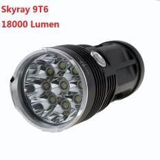 ซื้อ Skyray 9T6 Flashlight 18000 Lumen ไฟฉายสกายเรย์ 9หลอด ความแรงสูง ไฟฉายแรงสูง สปอทไล้ท์ 18000 ลูเม็น ระยะส่องสว่างใกลเป็นร้อยเมตร Skyray เป็นต้นฉบับ