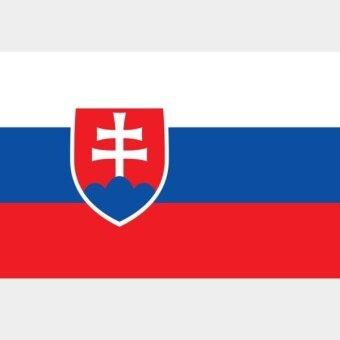 สโลวะเกียธงโพลีเอสเตอร์ 3 ฟุต X 5 ฟุต - นานาชาติ