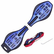 Snakeboard สเน็คบอร์ด สเก็ตบอร์ดไฟฟ้า ที่รองเท้าสเก็ตบอร์ด Blue ถูก