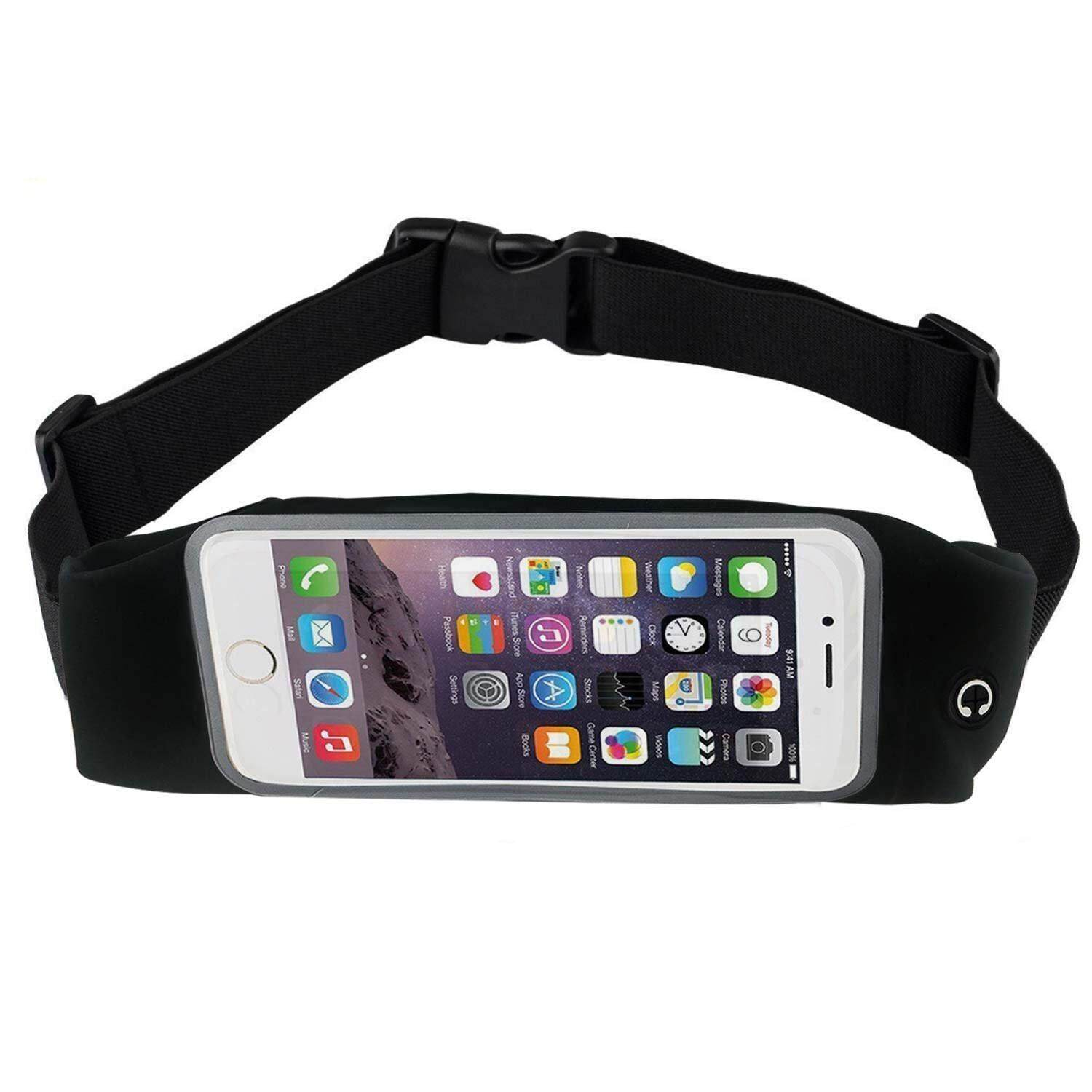 SOBUY 5.5 Inch Screen Cell Phone Waterproof Running Belt Waist Pack Universal Outdoor Sports Workout Fanny Pack With Clear Touch Screen Function For Men Women