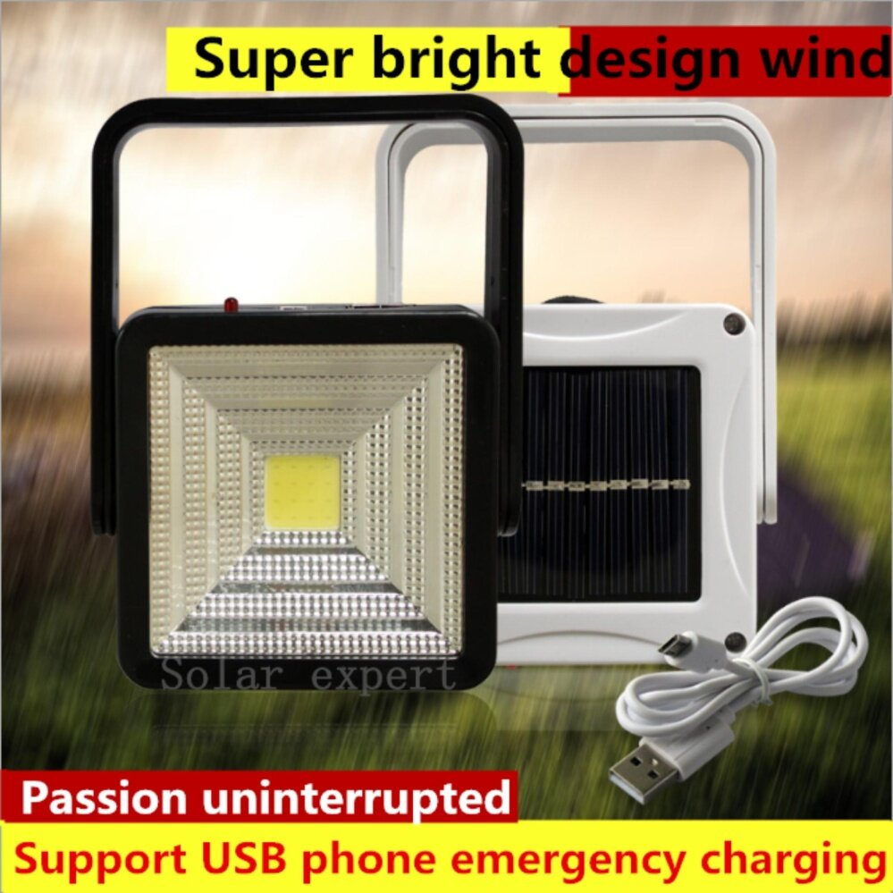 SOLAR RECHARGE SMD LED LAMP HH-666(สีดำ/black)