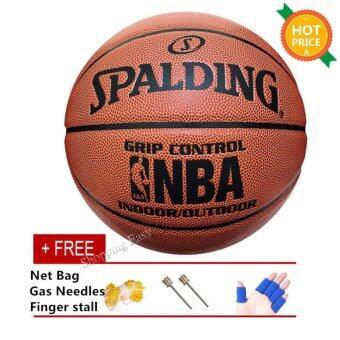 ลูกบาสเก็ตบอล Spalding Grip Control ใช้ในร่ม/กลางแจ้ง
