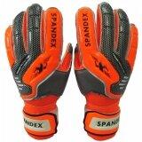 ขาย ถุงมือผู้รักษาประตู Spandex Gg 001 มี Finger Save ส้ม เบอร์ 6