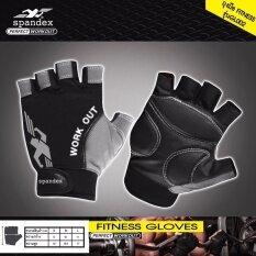 ราคา Spandex Gl002 ถุงมือฟิตเนส สีดำ เทา L ออนไลน์ Thailand
