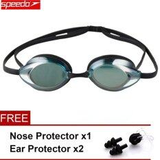 Speedo กันน้ำป้องกัน - หมอก Eye แว่นตาว่ายน้ำพีซีเลนส์ซิลิโคนสาย.