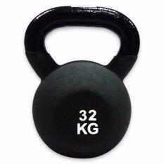 ราคา Sport Land ตุ้มน้ำหนักหุ้มยางสี Spl Neoprene Kettlebell เคตเทิลเบล 32 Kg Black ใน กรุงเทพมหานคร