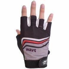 โปรโมชั่น Sportland ถุงมือ ฟิตเนส ยกน้ำหนัก เทรนนิ่ง Fitness Gloves Wave Bk ถูก