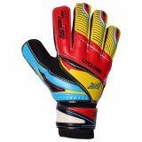 ราคา Sportland ถุงมือโกล์ว ฟุตบอล Goal Keeper Football Glove Cyclone ฟิงเกอร์เซฟ Fingersave Red Yellow ใหม่