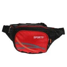ราคา Sports Casual F*Nny Pack Messager Bag For Outdoor Travel Mobile Phone Bag Red Intl Vakind เป็นต้นฉบับ