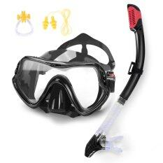 ขาย หน้ากากดำน้ำ Sports Outdoors Face Plates Breathing Tube Snorkeling Diving Mask Full Dry Glasses Goggles Anti Fog Bag With Ear Plug Nose Clip Intl เป็นต้นฉบับ