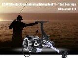 ราคา Sports Outdoors Fishing Reels Coonor Metal Spool Spinning Fishing Reel 11 1 Ball Bearings Ifr5000 Black Intl Unbranded Generic ใหม่
