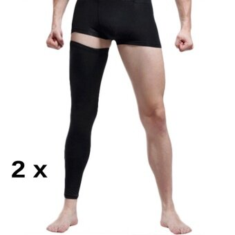 Sports Outdoors Supports Braces 2Pcs (A Pair)Adult Youth Compression Knee Calf Sleeves Leg Guard Support Antislip Sport Football Basketball Cycling Running Gym Stretch Leg Knee Brace Long Sleeve Protector Gear L - intl