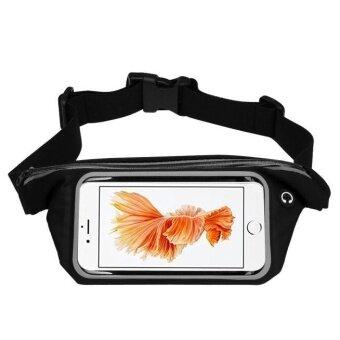 กีฬาวิ่งยิมเอวกระเป๋าเข็มขัดกรณีครอบคลุมสำหรับ iPhone 6 วินาทีบวก 5.5 นิ้ว BK-นานาชาติ