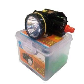 ST ไฟฉายคาดหัว ตรานก LED ST-532 80W สวิตซ์โวลุ่ม (ไฟสีเหลือง) ใช้งานลุยฝน