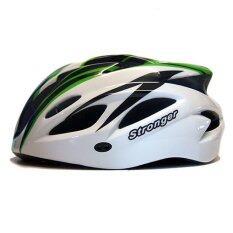 ขาย ซื้อ ออนไลน์ Stronger หมวกจักรยาน รุ่น V 105 สีขาว เขียว ดำ