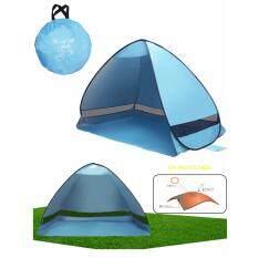 ขาย Sun Escape Beach Tents เต๊นท์ กัน Uva Uvb ปล่อยกางอัตโนมัติ เต๊นท์ผ้าใบ เต็นท์พับได้ อุปกรณ์สนาม ชายหาด เดินป่า กิจกรรมกลางแจ้ง 200X120X130 Cm สีฟ้า เป็นต้นฉบับ