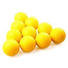 ขาย ซื้อ ออนไลน์ Super Gion Pu Ball ลูกกอล์ฟโฟม 10ลูก Yellow