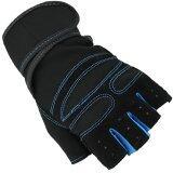Super Sport ถุงมือ ฟิตเนส ยกน้ำหนัก เทรนนิ่ง Sports Weight Lifting Half Finger Gloves Size Xl Blue ถูก