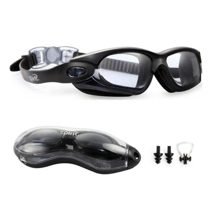 72706047fd88 ซื้อที่ไหน Swimming Goggles Anti Fog   Scratch UV Protection Leakproof  Triathlon Swim Goggles with Free
