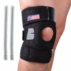 Sx625 Sports Adjustable Silicon 2 Spring Knee Pads Knee Support Guard Protector Black Intl เป็นต้นฉบับ