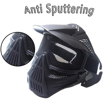 Tactical Airsoft Full Face Mask Safety Metal Mesh Goggles Protection CS - intl