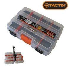 โปรโมชั่น Tactix 320042 กล่องเครื่องมือพลาสติก Mini Double Side Organizer 22 5 Cm