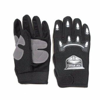 Telecorsa ถุงมือผ้าเต็มมือ GLOVE77 - Black