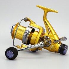 ราคา Tf Km60 Model Metal Head Front And Rear Brake Fishing Wheel Sea Pole Wheel Carp Fishing Reel Fishing Gear(Gold) Intl