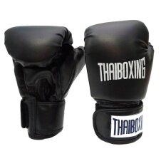 ขาย Thaiboxing นวมหนังเทียม ขนาด 12 ออนซ์ สีดำ ราคาถูกที่สุด