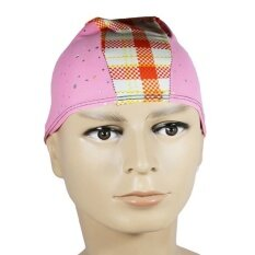 The new color Unisex Nylon Stretch swimming cap หมวกว่ายน้ำ Color random (04)