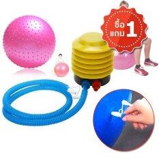 ซื้อ Tml ที่สูบลมแบบใช้เท้าเหยียบ ที่ปั๊มลมลูกบอลโยคะ ลูกบอลชายหาด สระว่ายน้ำ Foot Air Pump 1 สีเหลือง C5 Tml