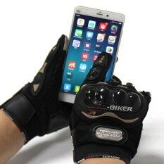 ถุงมือ มอเตอร์ไซร์ รุ่นทัชสกรีน (touched Screen Gloves) สะดวกทั้งตอนขี่ และ ตอนเล่นโทรศัพท์ ไม่ต้องถอดถุงมือมารับโทรศัพท์ - สีดำ/black จำนวน 1 คู่ By Lucida Shop.