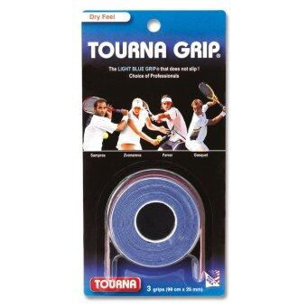 TOURNA GRIP กริ๊ปพันด้ามเทนนิสและแบด แบบแห้ง Blue-3 XL grips on roll TG-1-XL