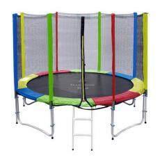 Trampolinejump 12 ฟุต สีรุ้ง สปริงบอร์ดออกกำลังกาย เพิ่มความสูง สำหรับเด็ก ถูก