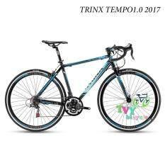 ราคา Trinx จักรยานเสือหมอบ รุ่น Tempo1 2017 Size 50 สีดำ น้ำเงิน Trinx Thailand
