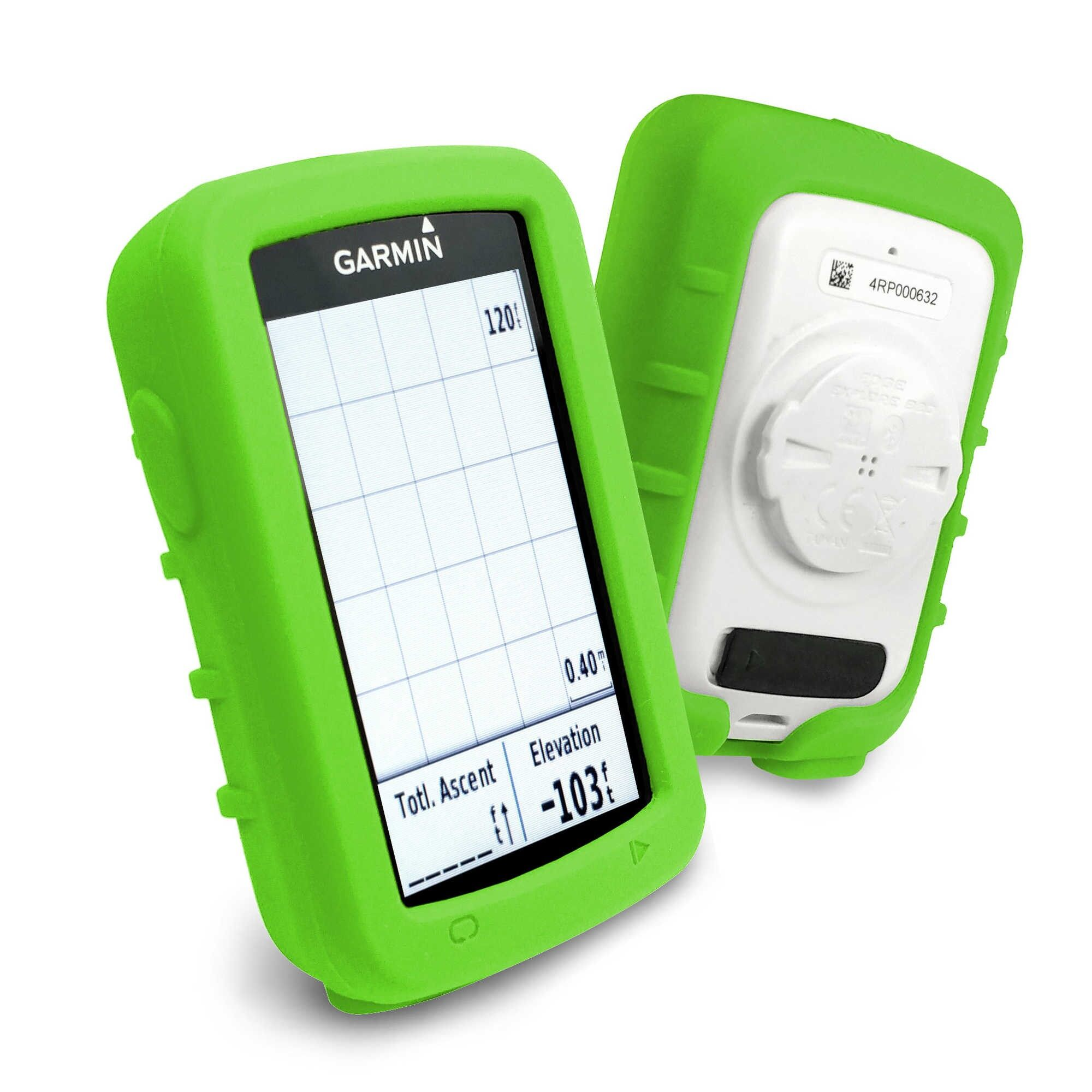 Tuff-Luv Garmin Edge 820 Silicone case - Green + Screen Protector Edge 820 ไมล์จักรยาน