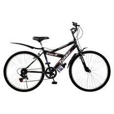 โปรโมชั่น Turbo Bicycle จักรยาน รุ่น Cobra 24 6 Speed สีดำ กรุงเทพมหานคร