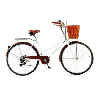 TURBO Bicycle จักรยาน รุ่น Vintage 6 Speed 26\ สีขาว