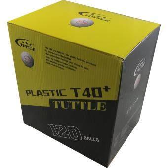 TUTTLE ลูกปิงปองพลาสติค 1 ดาวPLASTIC T40+ SUPER APPROVED ( 120 ลูก ) สีขาว