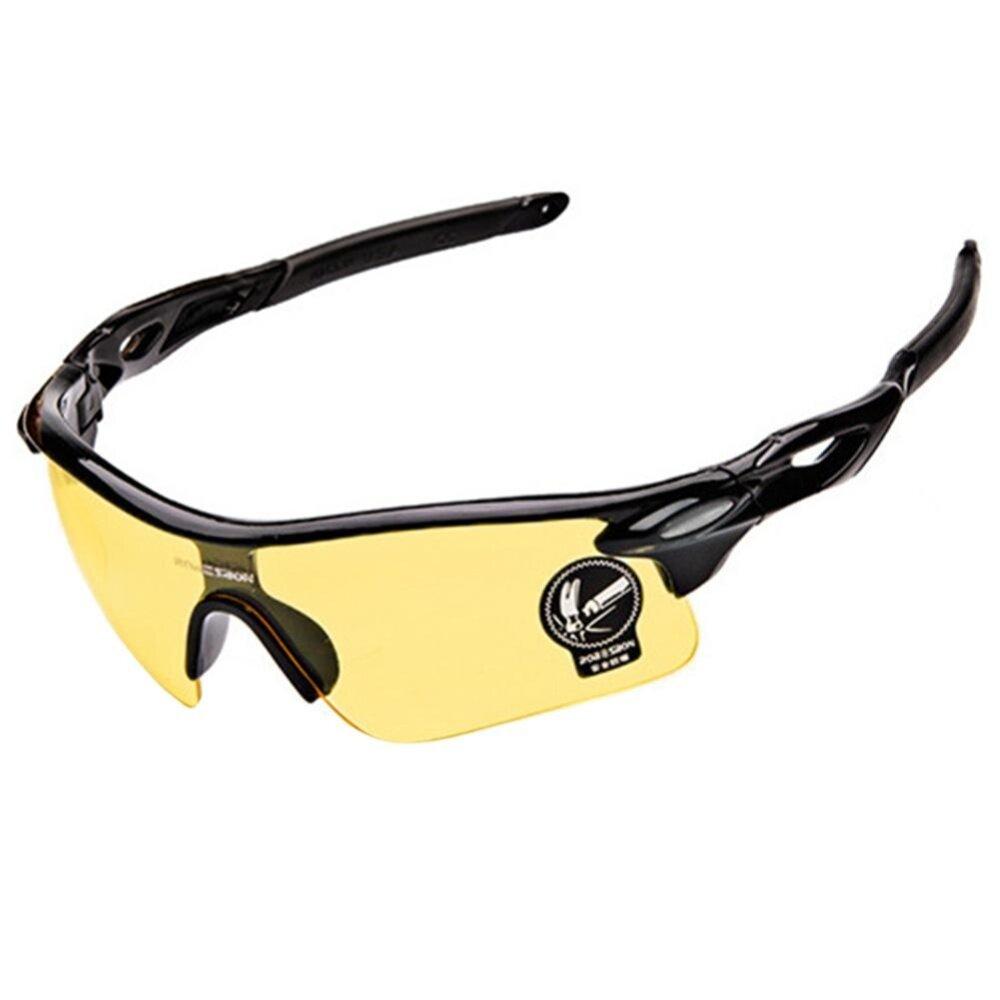 ไม่จำกัดเพศแว่นตาป้องกันแว่นตากันแดดขี่จักรยานแว่นตากันแดดกีฬาสีกรอบแว่นตา: กลางคืนวิสัยทัศน์เหลือง - นานาชาติ