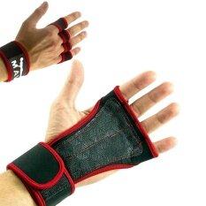 ราคา ไม่จำกัดเพศหนังซี่งป้องกันการลื่นถุงมือกับ Bracer ปรับ Bracer ถุงมือสำหรับฝึกสมาธิสำหรับการออกกำลังกายยกน้ำหนัก สีแดงขนาด เอ็ม นานาชาติ เป็นต้นฉบับ