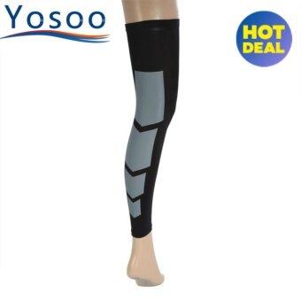 Unisex Elastic Leg Compression Long Sleeve Calf Support Brace (black M) - intl