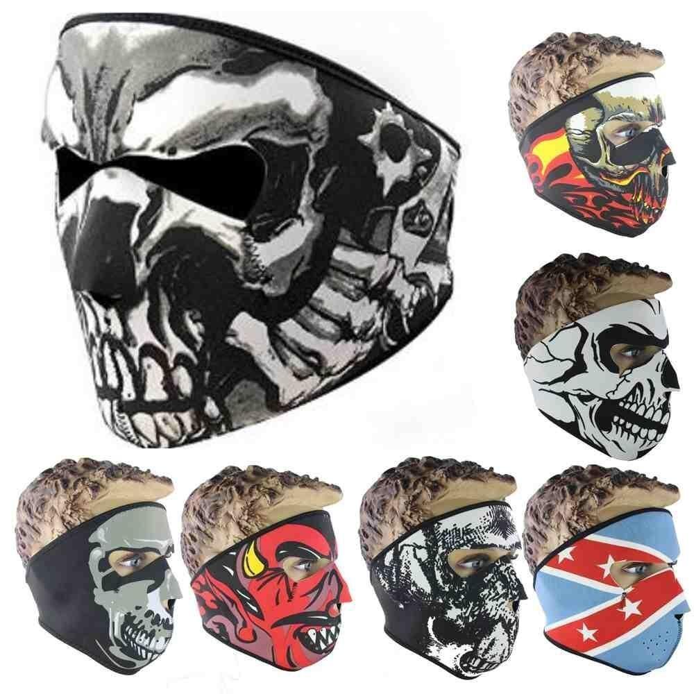 ไม่จำกัดเพศหน้ากากใบหน้ารถจักรยานยนต์กลางแจ้งผ้าพันคอคอเพ้นท์บอลสกีหมวกนิรภัย - นานาชาติ