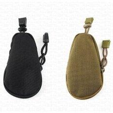 ราคา ราคาถูกที่สุด Unisex Tactical Military Coin Wallet Outdoor Hiking Key Bag Mini Zipper Pocket Black Intl