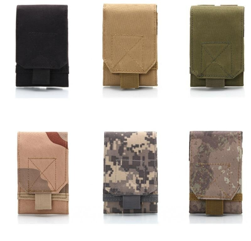 Universal Outdoor Multi Function Army Tactical Portable Waterproof 600D Nylon Mobile Phone Pouch Holster Case Bag Belt Color:Army green Specification:14*9*2CM - intl