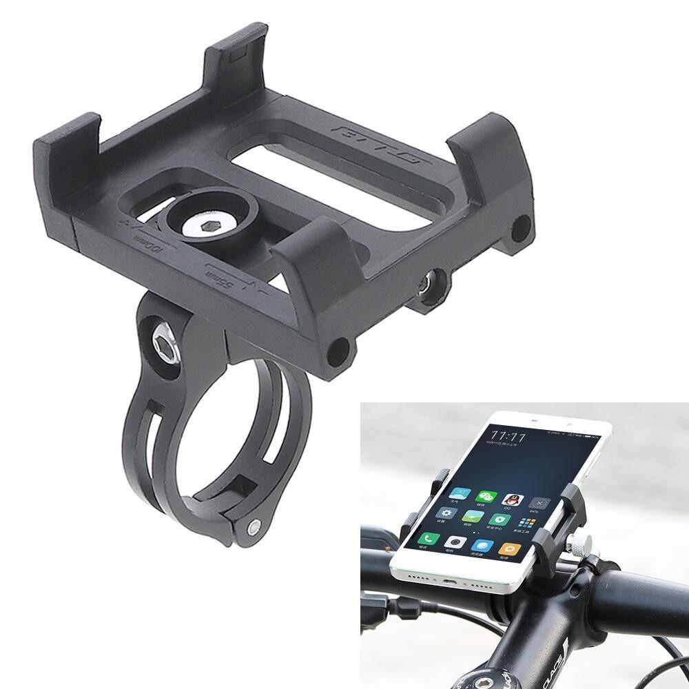 อัพเกรดจักรยานที่วางโทรศัพท์พลาสติกกรอบและอะลูมินัมอัลลอยคลิปสำหรับจักรยาน Handlebar - INTL